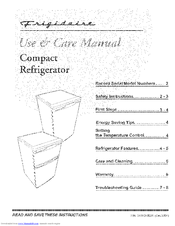 Frigidaire FRT05LG3DS Use & Care Manual