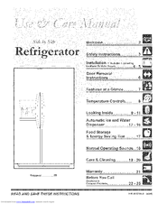 Frigidaire FRS26KF5DQ0 Use & Care Manual