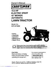 craftsman 917 271826 manuals rh manualslib com service manual for craftsman lawn tractor craftsman lawn tractor owner's manual