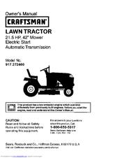 craftsman 917 272460 owner s manual pdf download rh manualslib com Craftsman 42 Mower Owners Manual 917 259567 Craftsman 42 Mower Owners Manual 917 259567