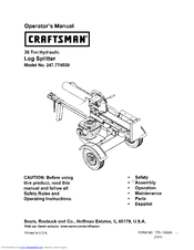 CRAFTSMAN 247.774500 Operator's Manual