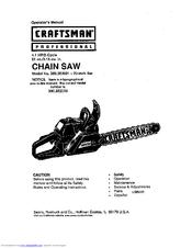 craftsman 360 352001 operator s manual pdf download rh manualslib com craftsman 20 46cc chainsaw parts Craftsman Chainsaw Manual 46Cc 20