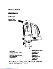CRAFTSMAN 183.172500 Owner's Manual