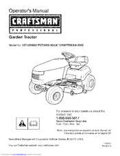 CRAFTSMAN 107289850 PGT9500 Operator's Manual