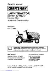 craftsman 917 273482 owner s manual pdf download rh manualslib com craftsman lawn tractor owner's manual Sears Craftsman Owners Manuals