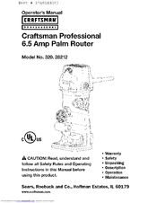 CRAFTSMAN 320.28212 Operator's Manual