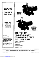 CRAFTSMAN 390.252282 Owner's Manual