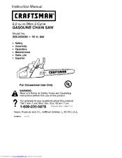craftsman 358 350460 instruction manual pdf download rh manualslib com Craftsman 16 36Cc Chainsaw Manual Craftsman 16 36Cc Chainsaw Manual
