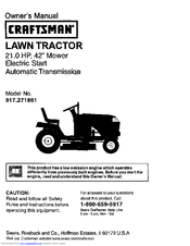 craftsman 917 271861 owner s manual pdf download rh manualslib com Sears LT1000 ModelNumber Sears LT1000 Parts Manual