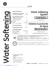 GE SmartWater GXSF18G Owner's Manual And Installation Instructions
