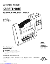 CRAFTSMAN 315.114010 Operator's Manual