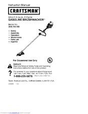 358. 795180 craftsman gasoline powered brushwacker.