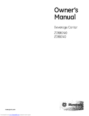 GE Monogram ZDBR240 Owner's Manual