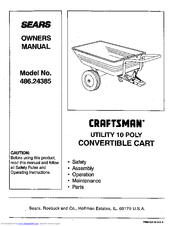 CRAFTSMAN 486.24385 Owner's Manual