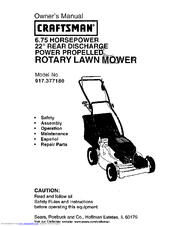 CRAFTSMAN 917.377180 Owner's Manual