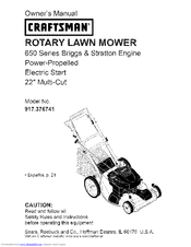 craftsman 917 376741 manuals rh manualslib com Craftsman Electric Lawn Mower Sears Craftsman Riding Lawn Mower
