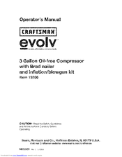 CRAFTSMAN evolv 15206 Operator's Manual