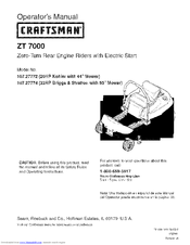 CRAFTSMAN 107.27774 Operator's Manual