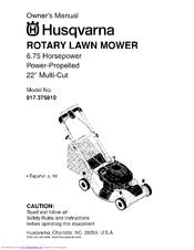 husqvarna 917 375810 manuals rh manualslib com husqvarna lawn mower repair manual husqvarna lawn mower parts manual