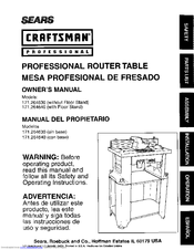 CRAFTSMAN 171.264630 Owner's Manual