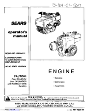 CRAFTSMAN 143.004012 Operator's Manual
