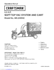 CRAFTSMAN 486.245042 Operator's Manual