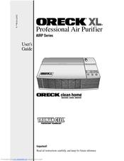 Oreck Xl Airp Series Manuals