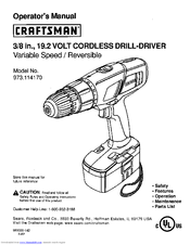 CRAFTSMAN 973.114170 Operator's Manual