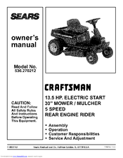 CRAFTSMAN 536.270212 Owner's Manual