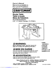 CRAFTSMAN 171.926501 Owner's Manual