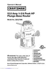 craftsman 320 27666 manuals rh manualslib com Craftsman Router Owner's Manual Craftsman Router Edge Guide