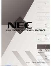 NEC NHD-3000PVR User Manual