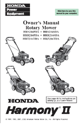 honda hrr216sda harmony ii manuals rh manualslib com honda harmony 2 hrr216 owners manual Honda HRR216 Parts Diagram