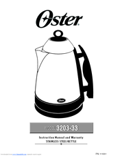 Oster 3203 33 And Warranty Manuals