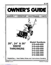 mtd 310 440 000 owner s manual pdf download rh manualslib com MTD Snowblower Parts Diagram MTD Snowblower Parts Diagram