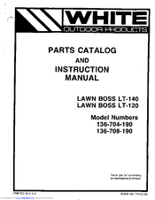 white lawn mower parts manual