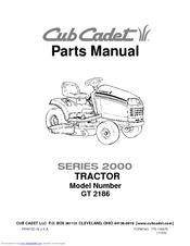 cub cadet gt 2186 manuals rh manualslib com cub cadet 2186 owners manual Cub Cadet 46 Inch Mower Deck Parts