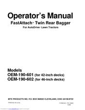 mtd oem 190 602 operator s manual pdf download