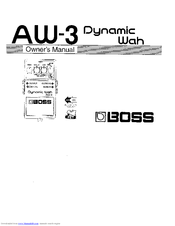 boss aw 3 dynamic wah manuals rh manualslib com boss owner's manual bose owners manual
