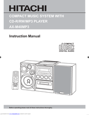 hitachi ax m40mp3 manuals rh manualslib com