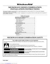 KitchenAid KHMS1850SBL1 Installation Instructions Manual