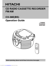 Hitachi CX-38E(BS) User Manual