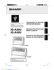 Sharp Plasmacluster IG-A40U Operation Manual
