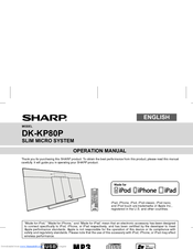 Sharp DK-KP80P Operation Manual