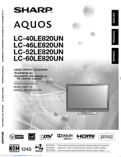 sharp aquos lc 46le810un manuals rh manualslib com Sharp ManualsOnline Sharp Compet QS-2760H