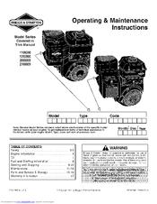 briggs stratton 210000 series manuals rh manualslib com Briggs and Stratton Intek Diagram briggs and stratton intek 900 series manual