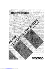 BROTHER SX-4000 User Manual