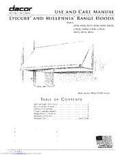 dacor epicure ehr48 manuals rh manualslib com Dacor Range Hood Light Bulbs Dacor Range Hood Light Replacement