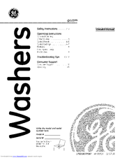 GE WCSR2090G3WW Owner's Manual