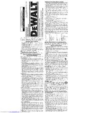 dewalt dc330 owners manual